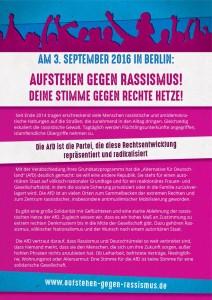 Aufstehen gegen Rassismus 3.9.16 Berlin (1)